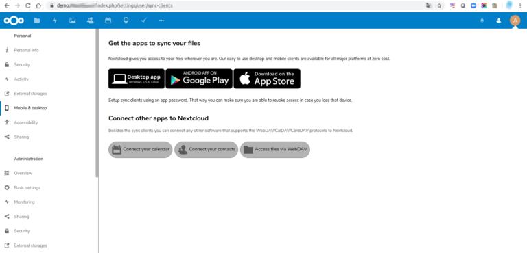 Acceda a Nextcloud desde cualquier tipo de dispositivo.