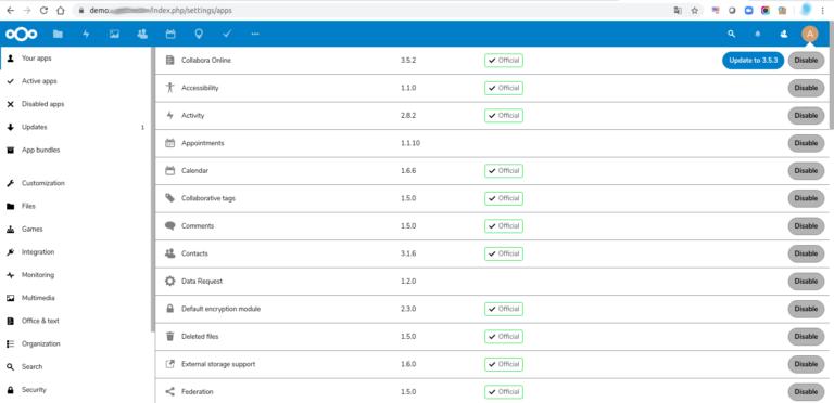 Use aplicaciones dentro de Nextcloud y expanda sus capacidades.